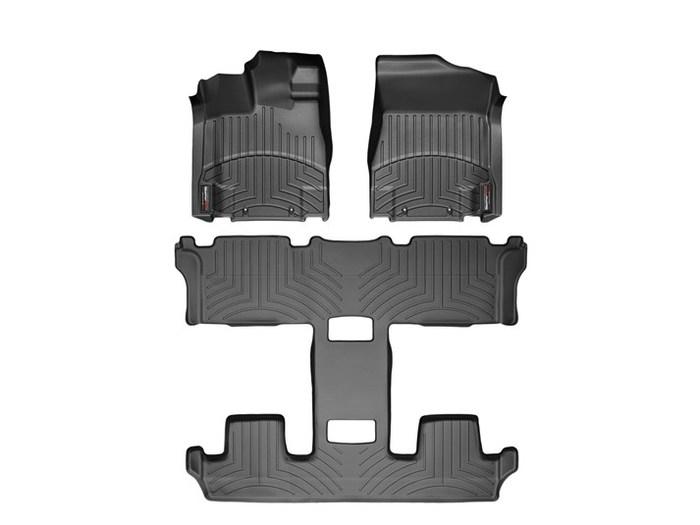 WeatherTech DigitalFit Floor Mats for 2011-2015 Nissan Quest [Covers Front & Rear, Black] (WEA94975)