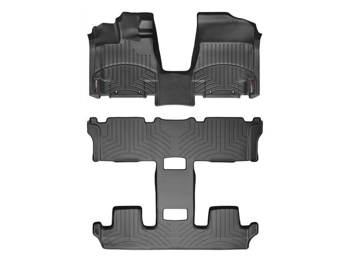 WeatherTech DigitalFit Floor Mats for 2011-2015 Nissan Quest [Covers Front & Rear, Black] (WEA94979)