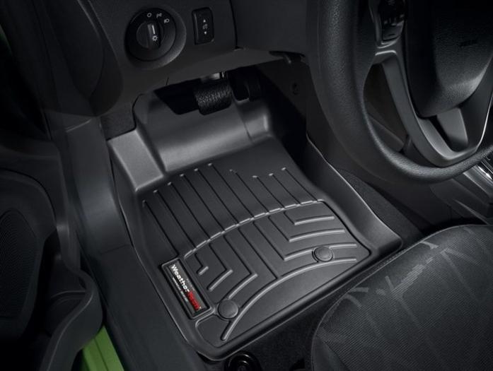 WeatherTech DigitalFit Floor Mats for 2011-2016 Ford Fiesta [Covers Front, Black] (WEA94855)