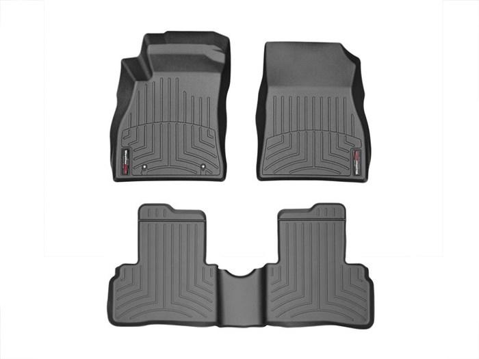 WeatherTech DigitalFit Floor Mats for 2011-2016 Nissan Juke [Covers Front & Rear, Black] (WEA95292)