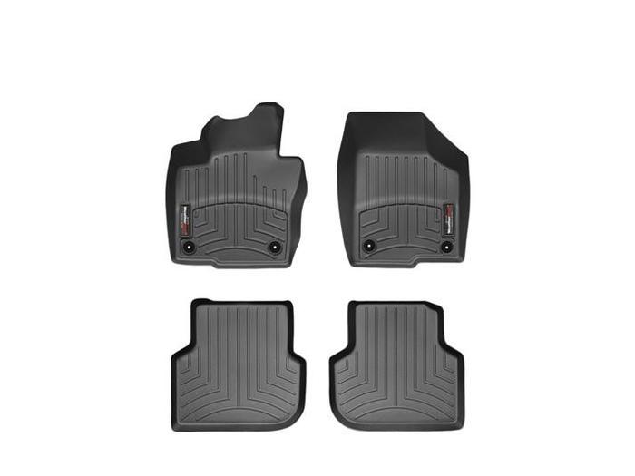 WeatherTech DigitalFit Floor Mats for 2011-2016 Volkswagen Jetta [Covers Front & Rear, Black] (WEA94895)