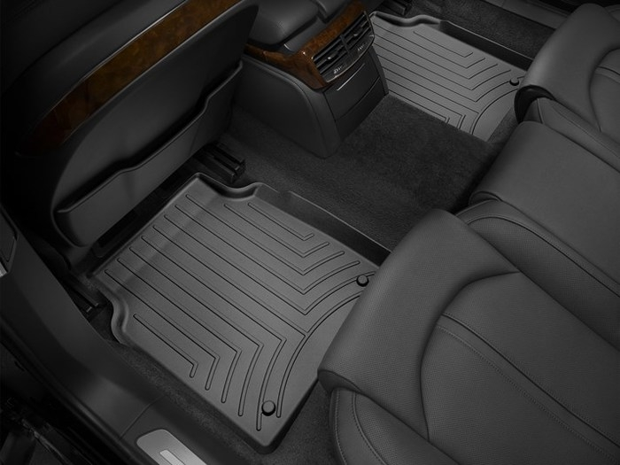WeatherTech DigitalFit Floor Mats for 2011-2017 Audi A8 Quattro [Covers Rear, Black] (WEA95087)