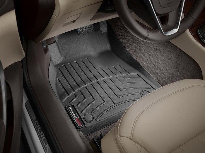 WeatherTech DigitalFit Floor Mats for 2011-2017 Buick Regal [Covers Front, Black] (WEA95327)