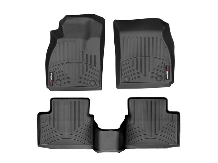 WeatherTech DigitalFit Floor Mats for 2011-2017 Buick Regal [Covers Front & Rear, Black] (WEA95328)