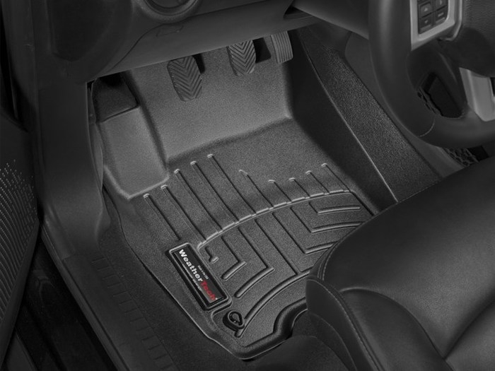 WeatherTech DigitalFit Floor Mats for 2011-2017 Dodge Journey [Covers Front, Black] (WEA95003)