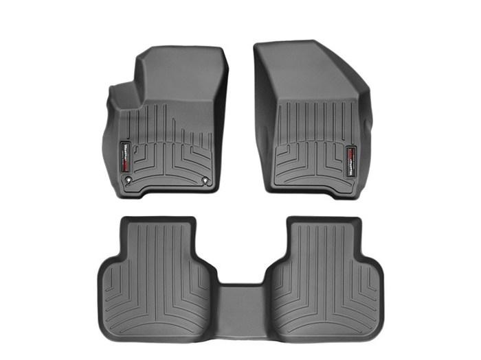 WeatherTech DigitalFit Floor Mats for 2011-2017 Dodge Journey [Covers Front & Rear, Black] (WEA95004)