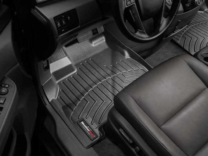 WeatherTech DigitalFit Floor Mats for 2011-2017 Honda Odyssey [Covers Front, Black] (WEA94907)