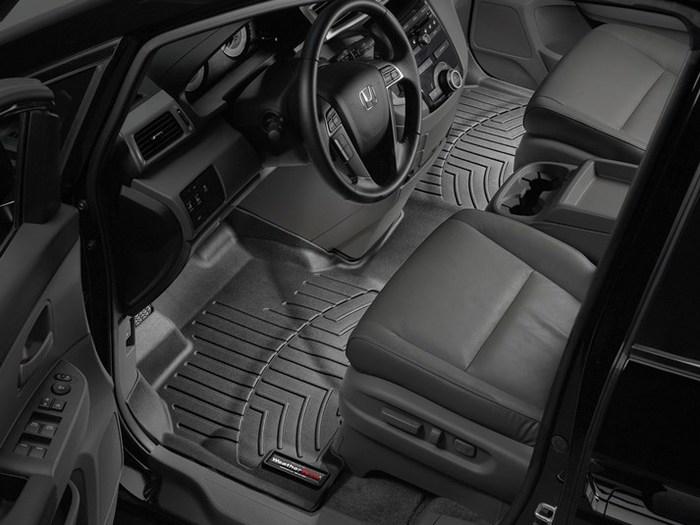 WeatherTech DigitalFit Floor Mats for 2011-2017 Honda Odyssey [Covers Front, Black] (WEA94919)