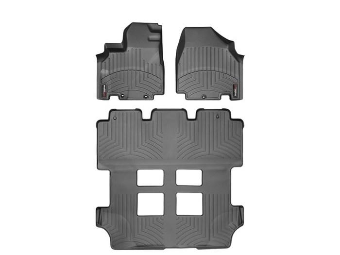 WeatherTech DigitalFit Floor Mats for 2011-2017 Honda Odyssey [Covers Front & Rear, Black] (WEA94906)