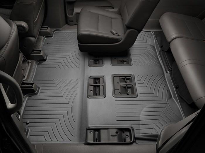 WeatherTech DigitalFit Floor Mats for 2011-2017 Honda Odyssey [Covers Rear, Black] (WEA94908)
