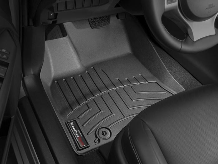 WeatherTech DigitalFit Floor Mats for 2011-2017 Lexus CT200h [Covers Front, Black] (WEA95239)