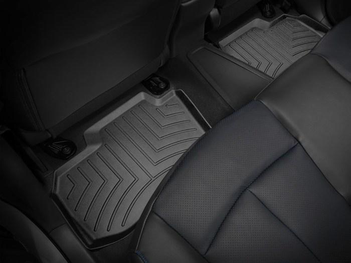 WeatherTech DigitalFit Floor Mats for 2011-2017 Nissan Leaf [Covers Rear, Black] (WEA95377)
