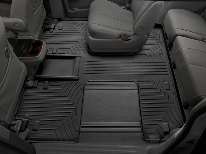 WeatherTech DigitalFit Floor Mats for 2011-2017 Toyota Sienna [Covers Rear, Black] (WEA94785)
