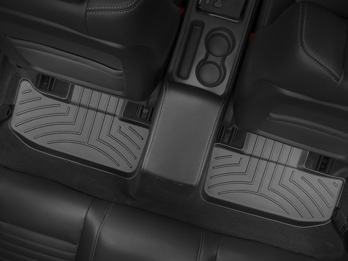 WeatherTech DigitalFit Floor Mats for 2011-2018 Dodge Challenger [Covers Rear, Black] (WEA95019)