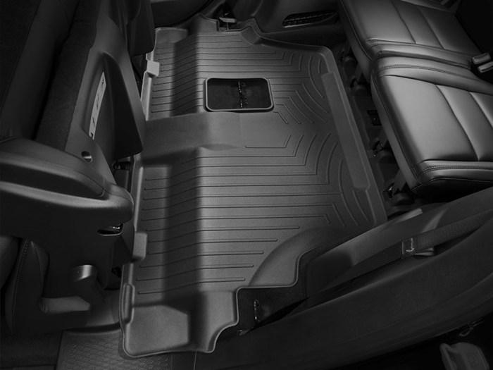 WeatherTech DigitalFit Floor Mats for 2011-2018 Dodge Durango [Covers Rear, Black] (WEA94863)