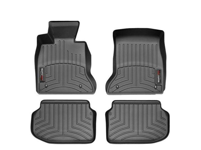WeatherTech DigitalFit Floor Mats for 2011 BMW 528i [Covers Front & Rear, Black] (WEA94826)