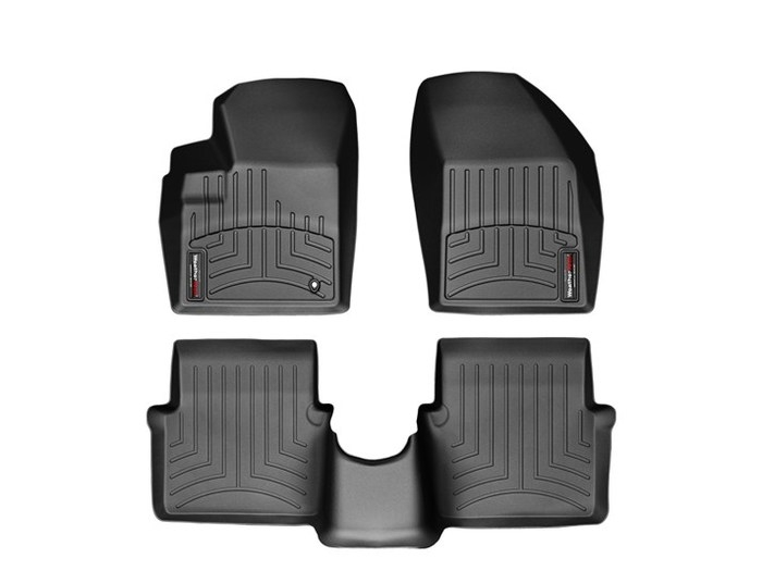 WeatherTech DigitalFit Floor Mats for 2011 Chrysler 200 [Covers Front & Rear, Black] (WEA95000)