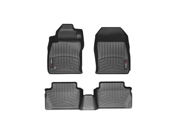 WeatherTech DigitalFit Floor Mats for 2011 Ford Fiesta [Covers Front & Rear, Black] (WEA94853)