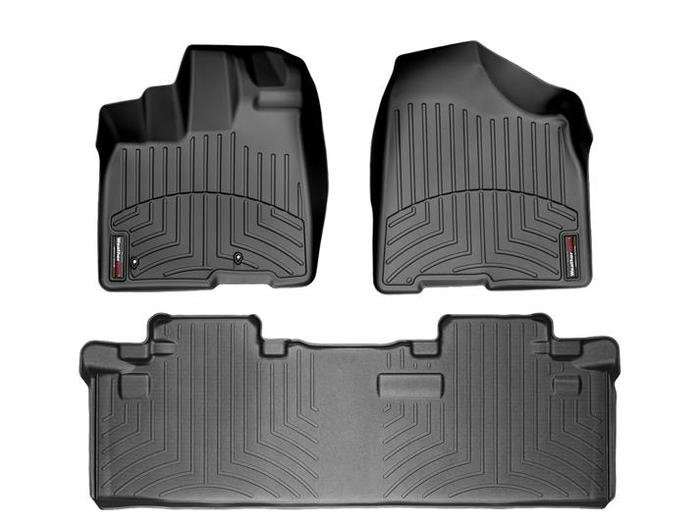 WeatherTech DigitalFit Floor Mats for 2011 Toyota Sienna [Covers Front & Rear, Black] (WEA94779)