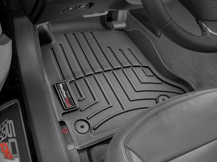 WeatherTech DigitalFit Floor Mats for 2012-2013 Chevrolet Corvette [Covers Front, Black] (WEA95202)