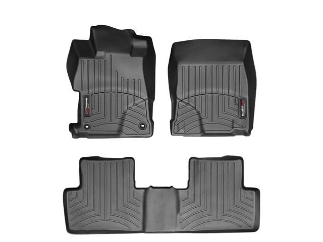 WeatherTech DigitalFit Floor Mats for 2012-2013 Honda Civic [Covers Front & Rear, Black] (WEA94989)
