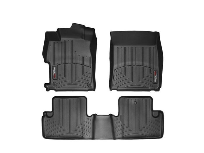 WeatherTech DigitalFit Floor Mats for 2012-2013 Honda Civic [Covers Front & Rear, Black] (WEA95026)