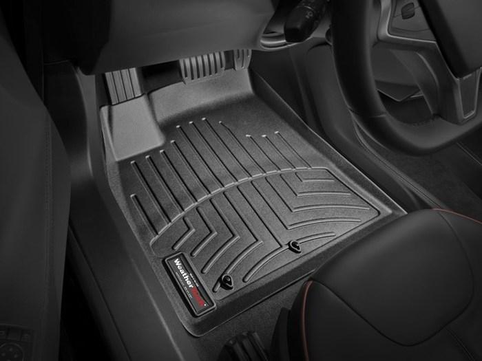 WeatherTech DigitalFit Floor Mats for 2012-2013 Tesla S [Covers Front, Black] (WEA95168)