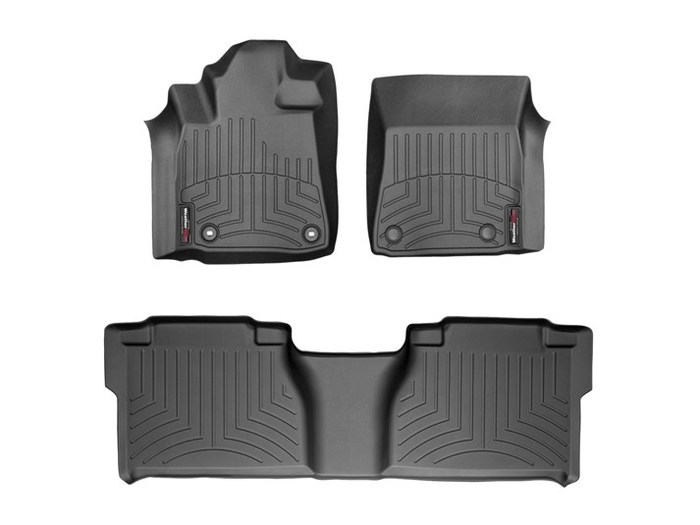 WeatherTech DigitalFit Floor Mats for 2012-2013 Toyota Tundra [Covers Front & Rear, Black] (WEA95054)