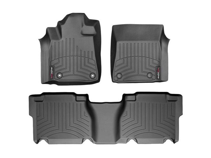 WeatherTech DigitalFit Floor Mats for 2012-2013 Toyota Tundra [Covers Front & Rear, Black] (WEA95055)