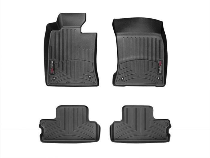 WeatherTech DigitalFit Floor Mats for 2012-2014 Mini Cooper [Covers Front & Rear, Black] (WEA95113)
