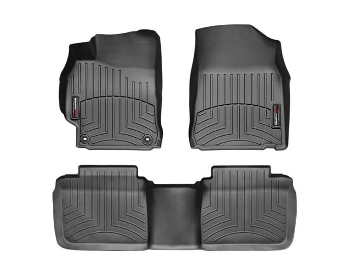 WeatherTech DigitalFit Floor Mats for 2012-2014 Toyota Camry [Covers Front & Rear, Black] (WEA95027)