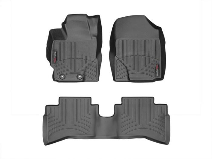 WeatherTech DigitalFit Floor Mats for 2012-2014 Toyota Prius C [Covers Front & Rear, Black] (WEA95076)