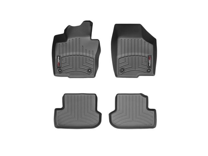 WeatherTech DigitalFit Floor Mats for 2012-2014 Volkswagen Beetle [Covers Front & Rear, Black] (WEA94896)