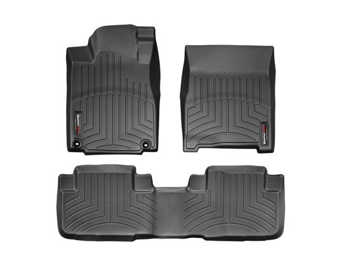 WeatherTech DigitalFit Floor Mats for 2012-2016 Honda CR-V [Covers Front & Rear, Black] (WEA95035)