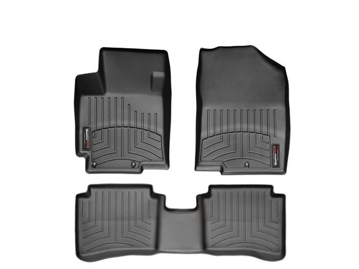 WeatherTech DigitalFit Floor Mats for 2012-2016 Hyundai Accent [Covers Front & Rear, Black] (WEA94903)