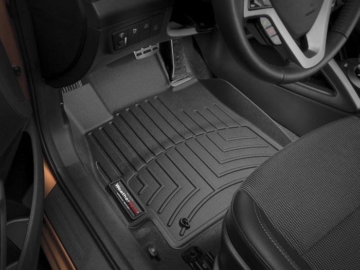 WeatherTech DigitalFit Floor Mats for 2012-2016 Hyundai Veloster [Covers Front, Black] (WEA94910)