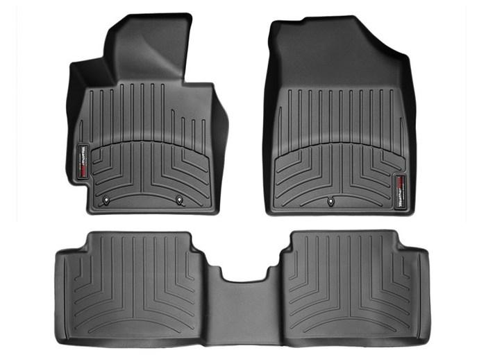 WeatherTech DigitalFit Floor Mats for 2012-2016 Hyundai Veloster [Covers Front & Rear, Black] (WEA94909)