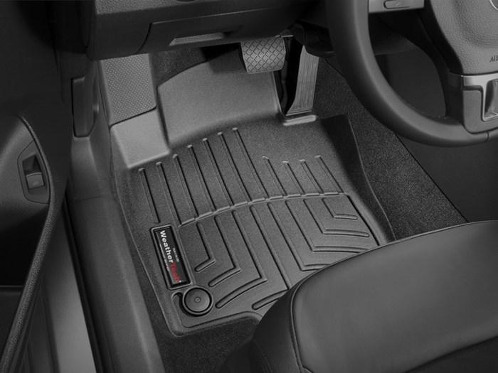 WeatherTech DigitalFit Floor Mats for 2012-2016 Volkswagen Passat [Covers Front, Black] (WEA95015)