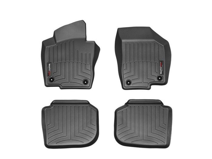 WeatherTech DigitalFit Floor Mats for 2012-2016 Volkswagen Passat [Covers Front & Rear, Black] (WEA95014)