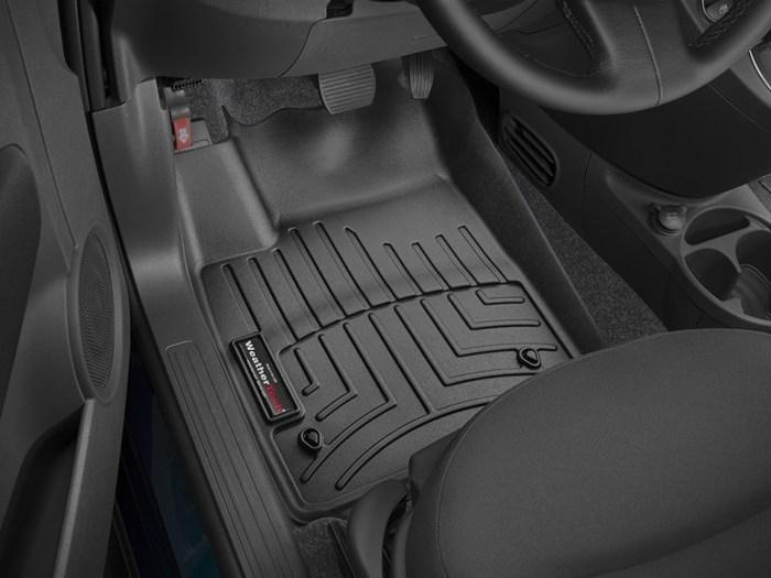 WeatherTech DigitalFit Floor Mats for 2012-2017 Fiat 500 [Covers Front, Black] (WEA94981)