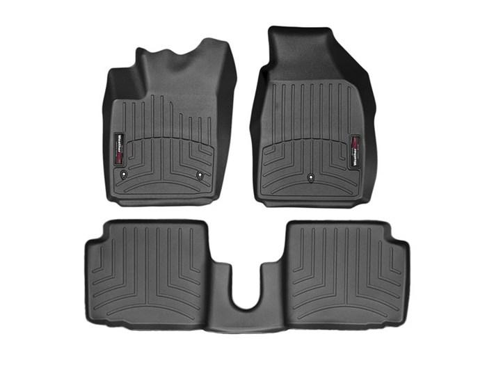 WeatherTech DigitalFit Floor Mats for 2012-2017 Fiat 500 [Covers Front & Rear, Black] (WEA94982)