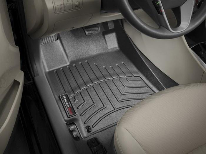 WeatherTech DigitalFit Floor Mats for 2012-2017 Hyundai Accent [Covers Front, Black] (WEA94904)