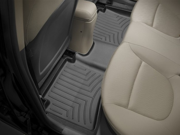 WeatherTech DigitalFit Floor Mats for 2012-2017 Hyundai Accent [Covers Rear, Black] (WEA94905)