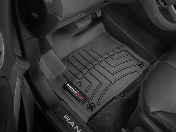 WeatherTech DigitalFit Floor Mats for 2012-2017 Land Rover Range Rover Evoque [Covers Front, Black] (WEA95042)
