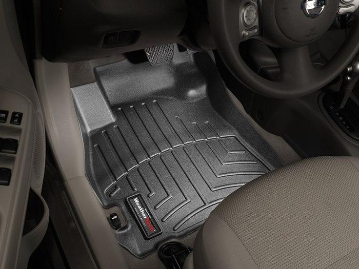 WeatherTech DigitalFit Floor Mats for 2012-2017 Nissan Versa [Covers Front, Black] (WEA95073)