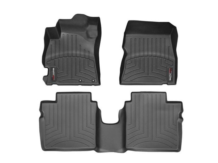 WeatherTech DigitalFit Floor Mats for 2012-2017 Nissan Versa [Covers Front & Rear, Black] (WEA95072)