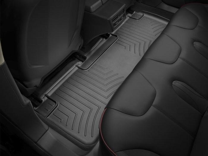 WeatherTech DigitalFit Floor Mats for 2012-2017 Tesla S [Covers Rear, Black] (WEA95169)
