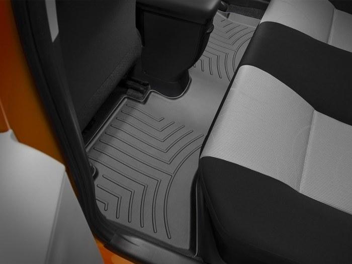 WeatherTech DigitalFit Floor Mats for 2012-2017 Toyota Prius C [Covers Rear, Black] (WEA95080)