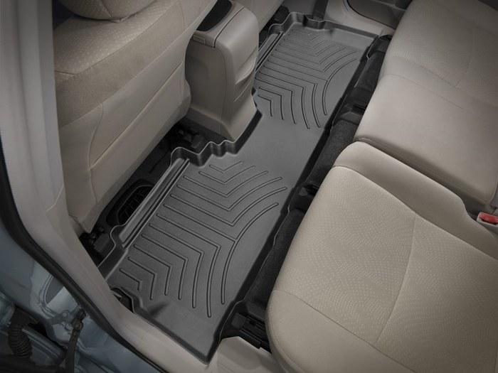 WeatherTech DigitalFit Floor Mats for 2012-2017 Toyota Prius V [Covers Rear, Black] (WEA95105)