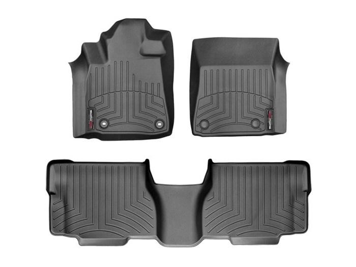 WeatherTech DigitalFit Floor Mats for 2012-2018 Toyota Sequoia [Covers Front & Rear, Black] (WEA95056)